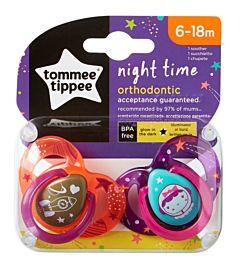 Suzeta Ortodontica de Noapte, Tommee Tippee, 2buc, 6-18 luni, Astronaut Fetita