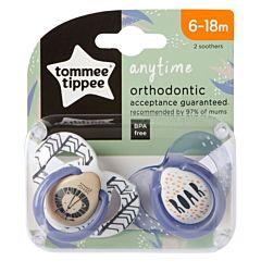 Suzeta Ortodontica Anytime , Tommee Tippee, 2buc, 6-18 luni, Leut