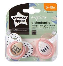 Suzeta Ortodontica Anytime , Tommee Tippee, 2buc, 6-18 luni, Tigrut