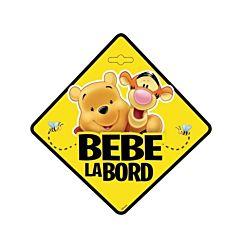 Semn auto Bebe la Bord - Winnie the Pooh SEV9628
