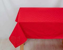 Fata de masa uni rosu 140x180 cm
