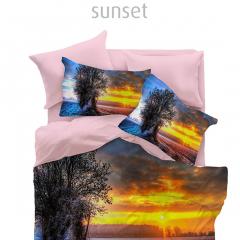 Lenjerie Digital 2 persoane, 200x220 cm, Sunset