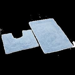 Set 2x covorase baie 50x80 Albastru