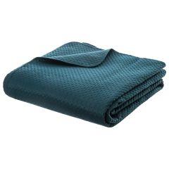 Set: 1 cuvertura pentru pat 240X260 cm, 2 fete de perna 60X60cm bleumarin