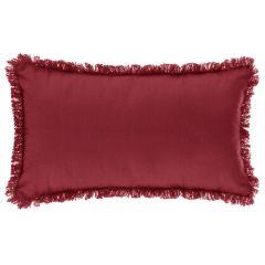 Perna cu franjuri 30X50 cm rosie