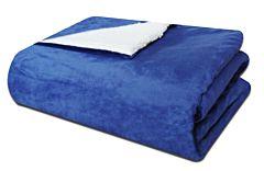 Cuvertura 180x200 cm bleu