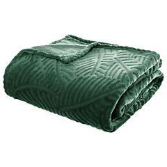 Patura flanel 3D FRUNZA 220X240 cm verde
