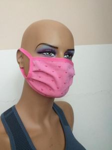 Masca fantezie inimi roz XS Adesgo