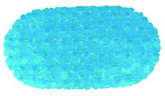 Covor antiderapant STONES 68X35 cm bleu