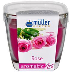 Lumanare pahar, trandafir, Muller Kerzen