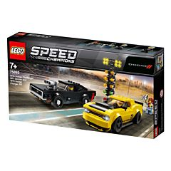 LEGO Speed Champions Dodge Challenger SRT Demon 2018 si Dodge Charger R/T 1970 75893