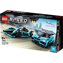 LEGO Speed Champions Formula E Panasonic Jaguar Racing Gen2 si Jaguar I-PACE eTROPHY 76898