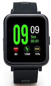 Smartwatch E-Boda Smart Time 350  Apelare Agenda SMS Notificari Monitorizare somn Anti-Pierdere Pedometru, Negru