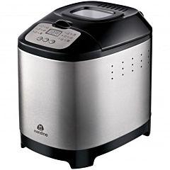 Masina de facut paine Mandine MBM450-18, 450 W, capacitate 680 g, 12 programe, afisaj LCD, Negru/Inox