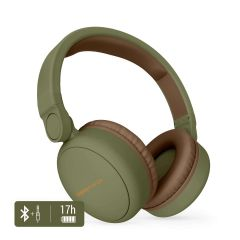 Casti audio over ear Energy Sistem ENS445615, Bluetooth, Microfon, Verde