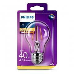 Bec Philips Led A60CL 40W E27 FIL 2700K