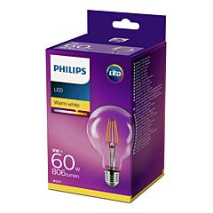 Bec Philips Led G93CL 60W E27 FI L2700K