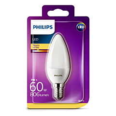 Bec Philips Led B35 60W E14 2700K MAT
