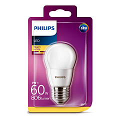 Bec Philips Led P45 60W E27 2700K MAT