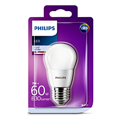 Bec Philips Led P45  60W E27 4000K MAT