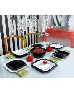 Set vesela 19 piese Authentic Black & White, Luminarc