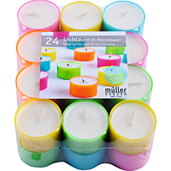 Set 24 pastile in cupa color, Muller Kerzen