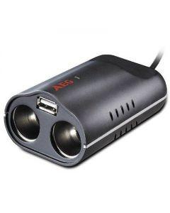 Bricheta auto dubla- USB 1A AEG