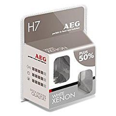 Set 2 x becuri auto White Xenon, H7, AEG
