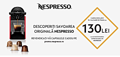 Espressor Essenza Mini Nespresso, Negru, C30 EU, 19bar, 0.6L, clasa A