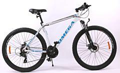 "Bicicleta Omega Rowan 27.5"", alb-albastru"