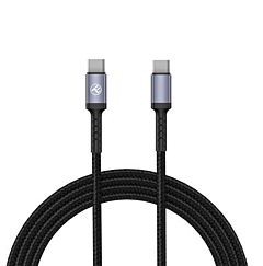 Cablu Type-C/Type-C Tellur TLL155374 PD60, 1m, Negru