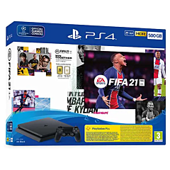 Consola PlayStation 4 Slim 500GB, Jet Black, F-Chassis + joc FIFA 21