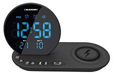 Ceas cu radio Baupunkt CR85BK, incarcator wireless pt dispozitive mobile, Negru