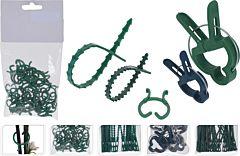 Set accesorii de gradina ProGarden, 5 tipuri piese, polipropilena, Verde