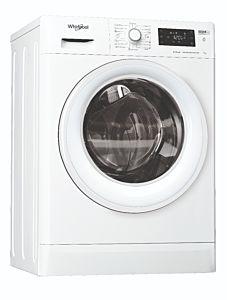 Masina de spalat rufe Whirlpool FWSG71283WVEEN, 7 kg, 1200 rotatii, Clasa D, FreshCare+ , 6th Sense, Steam Refresh, Motor Inverter, Alb