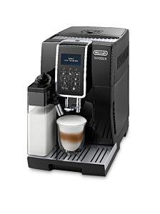 Espressor automat DeLonghi Dinamica ECAM350.55B, 1450 W, 15 bar, afisaj LCD, recipient boabe 300 ml