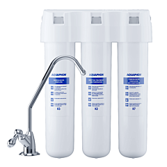 Filtru apa sub chiuveta Crystal Aquaphor, capacitate filtrare 8000 L, Alb