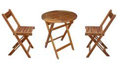 Set mobilier 3 piese, lemn acacia