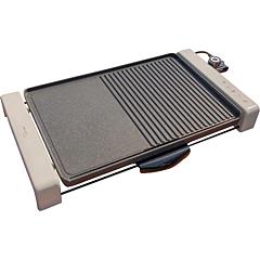 Gratar electric Delimano Perla, 2000 W, termostat reglabil, placa anti-aderenta, Bej