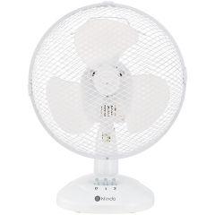 Ventilator birou KDF23-19 Klindo, 30W, 2 viteze, Alb