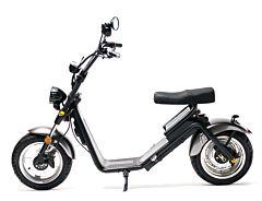 Moped Electric FreeWheel MotoRo S1, Gri, Autonomie 40 Km, Viteza 45 Km/h, Omologat RAR, Motor 1200 W