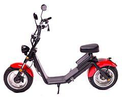 Moped Electric FreeWheel MotoRo S1, Rosu, Autonomie 40 Km, Viteza 45 Km/h, Omologat RAR, Motor 1200 W