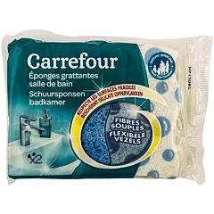 Burete abraziv pentru baie Carrefour 2 bucati