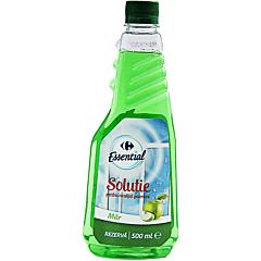 Rezerva solutie pentru curatat geamuri, cu alcool si mar Carrefour 500ml