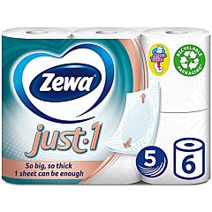 Hartie igienica Zewa Just, 5straturi, 6role