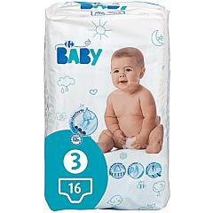 Scutece de unica folosinta Carrefour Baby Midi, 4-9 kg, 16 bucati