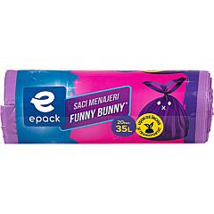 Saci menajeri 35 litri Epack Funny Bunny 20buc