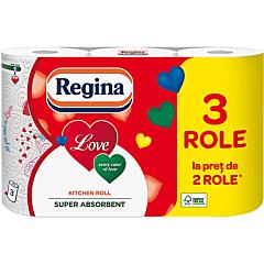 Prosop de hartie, Regina Love, 3 straturi, 3 role
