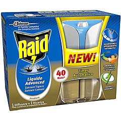 Aparat electric antitantari cu lichid Raid Advanced 40nopti 33ml