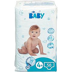 Scutece maxi Carrefour Baby, 9-16 kg, 50 bucati
